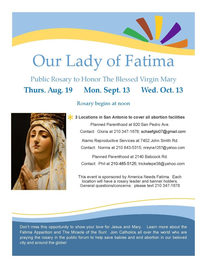Our Lady Of Fatima Poster July 13 Page 001